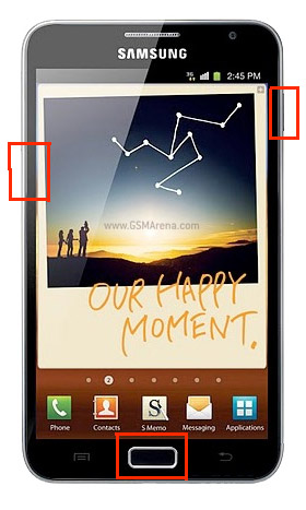 Samsung GT-N7000 Galaxy Note firmware update manual