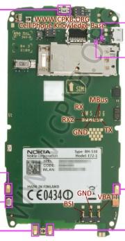 180px Nokia e72 pinout