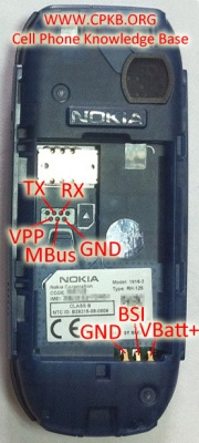 Nokia 1280 Pinout Cpkb Cell Phone Knowledge Base