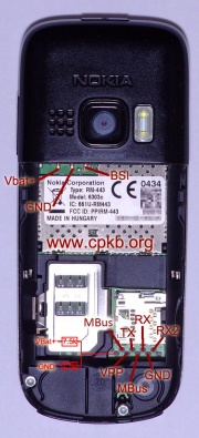 Nokia 6303 Classic Pinout Cpkb Cell Phone Knowledge Base